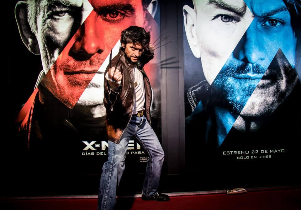 Javi en la Comic-Con del año pasado :P *Wolverine*