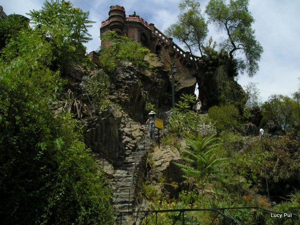 Foto del Cerro Santa Lucía en mi viaje del 2010